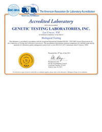 GTL ISO17025 accreditation certificate